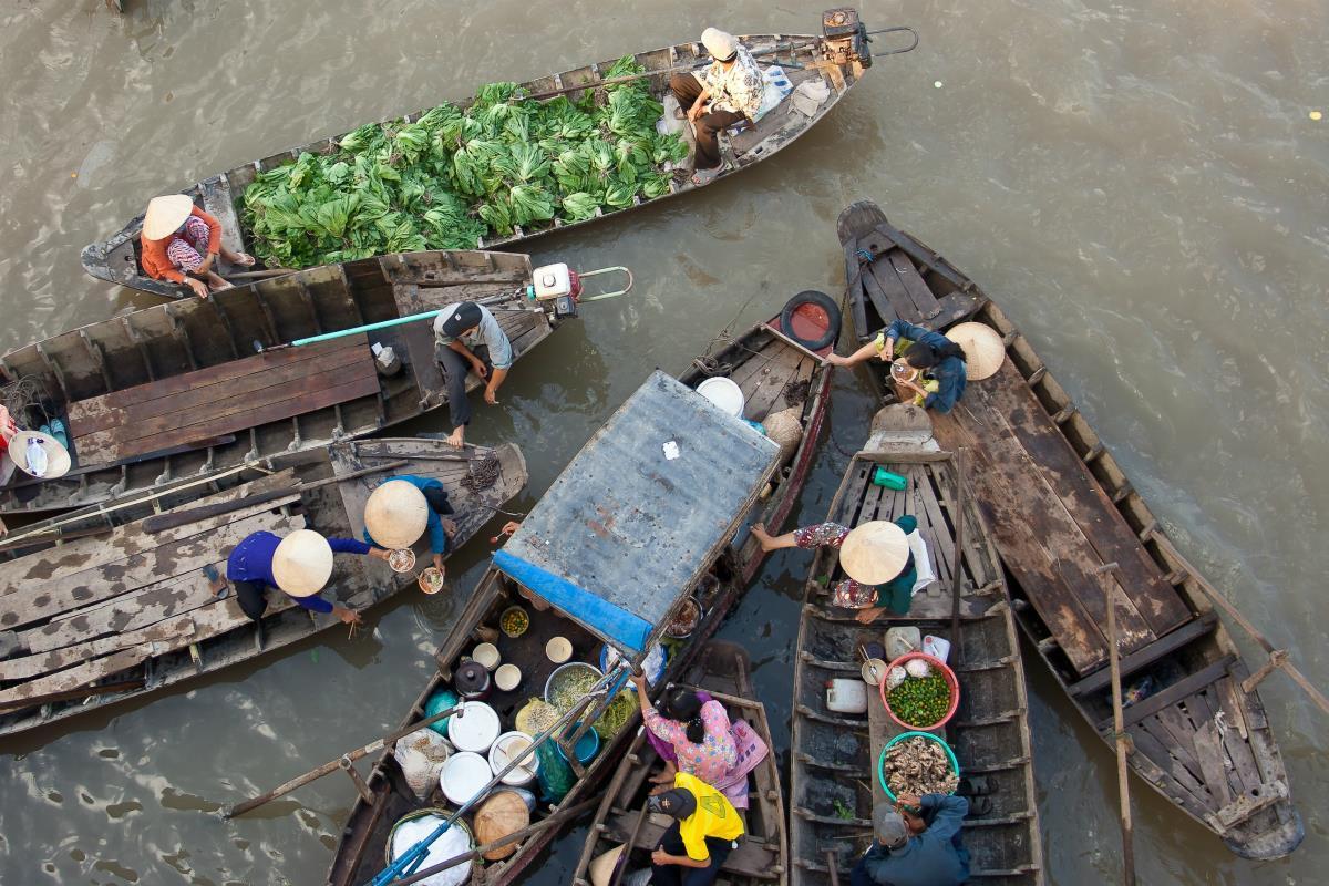 Delta Mekongu – Pływający Rynek