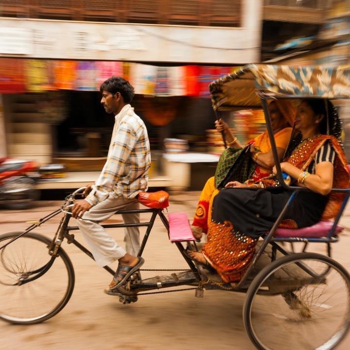 Rikszą przez Delhi