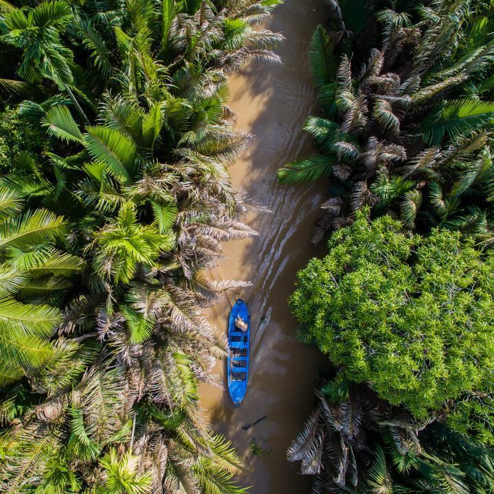Rowerem w Delcie Mekongu