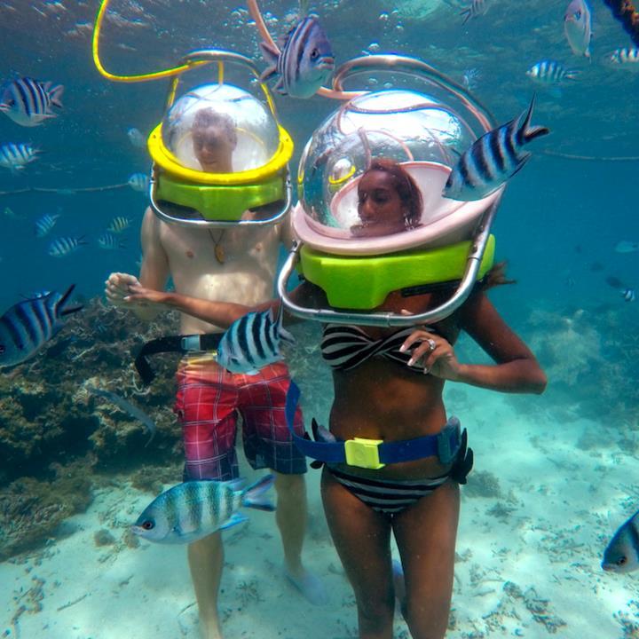 Spacer pod wodą