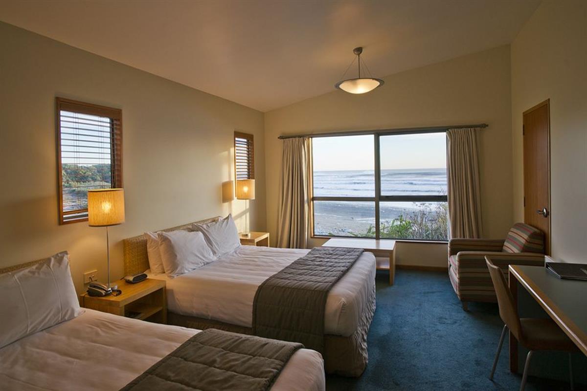 Punakaiki Resort – Pokój z dwoma łóżkami pojedynczymi i widokiem na morze