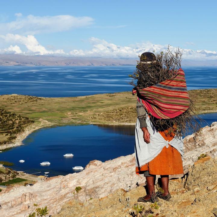 Jezioro Titicaca w Boliwii