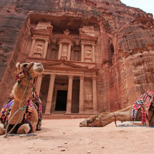 The Treasury,Al Khazneh, in Petra, Jordan