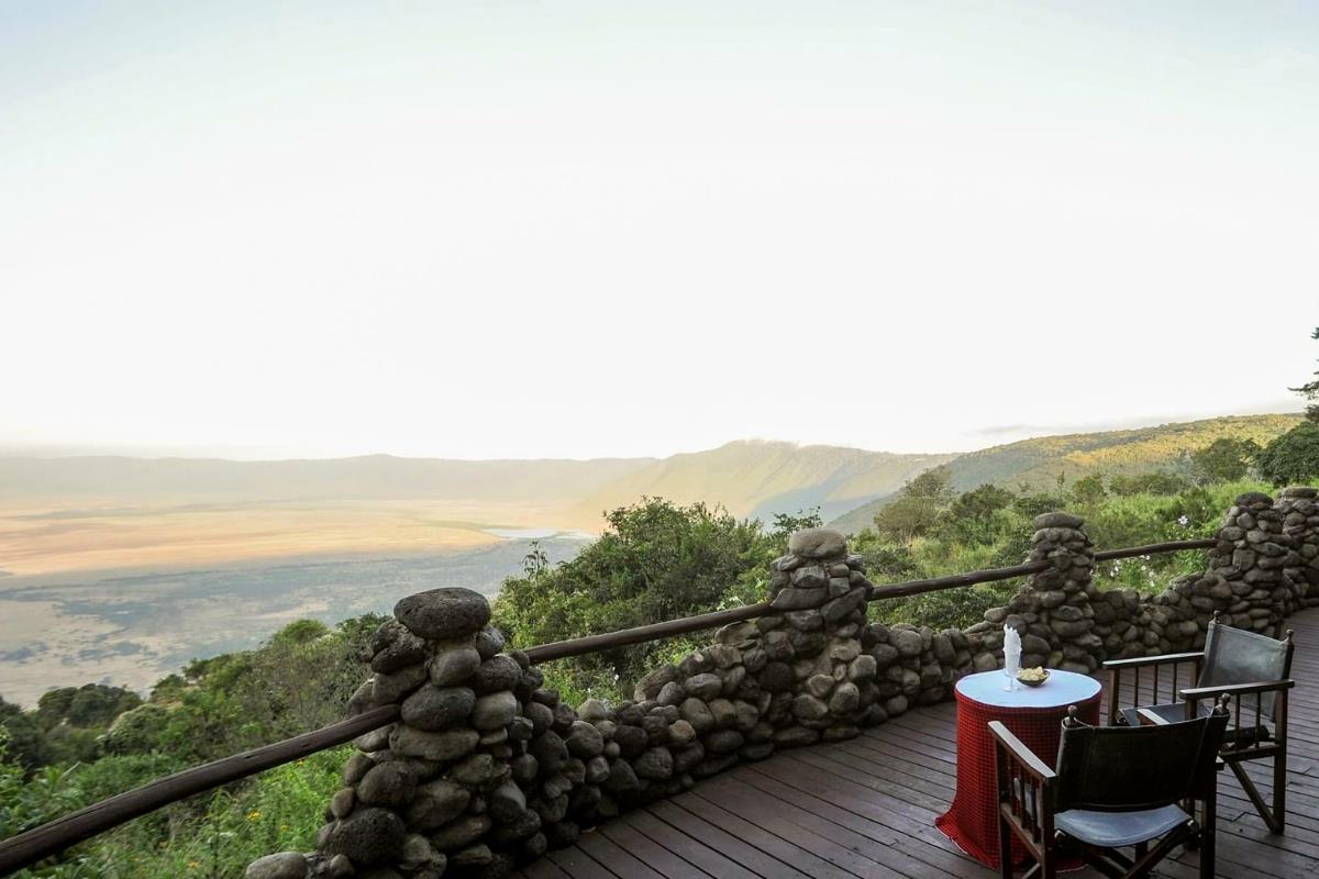 Ngorongoro Serena Safari Lodge – Taras widokowy