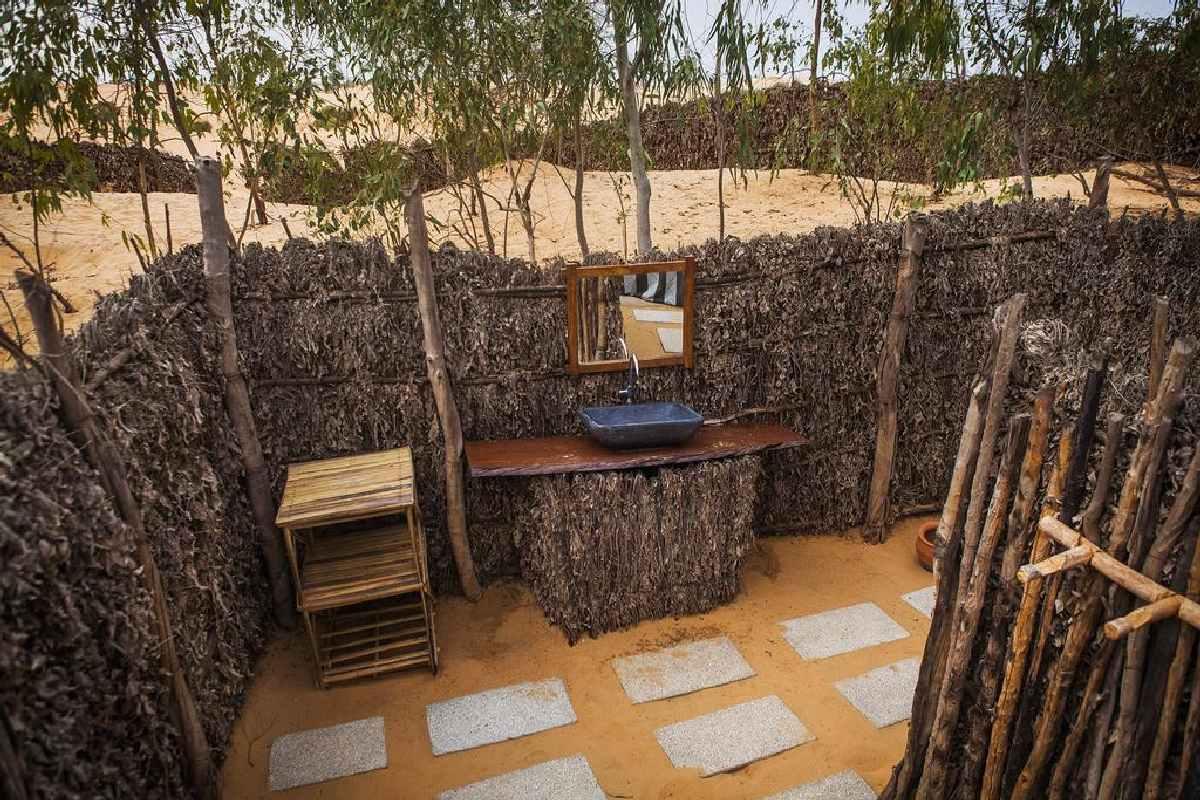 Camp du Desert – Łazienka w Namiocie Reve de nomade
