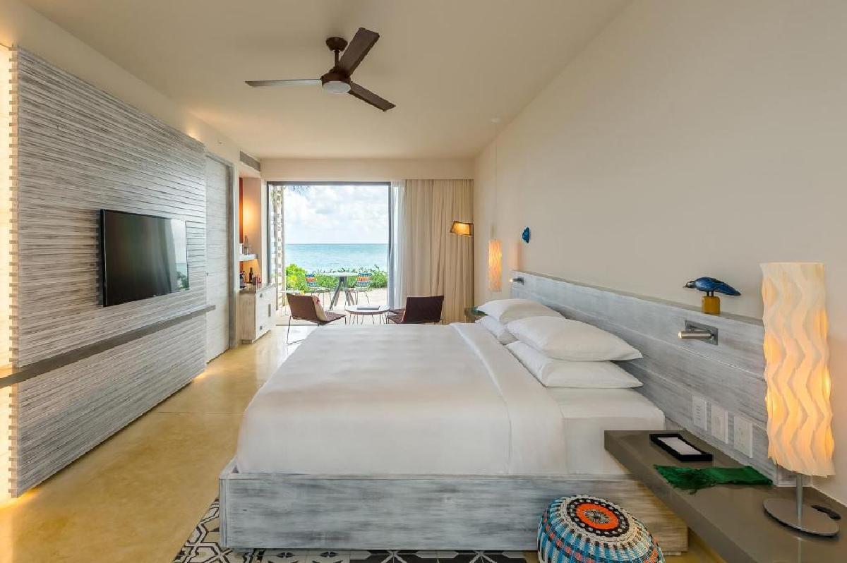 Andaz Mayakoba – Pokój z łóżkiem typu king-size przy plaży