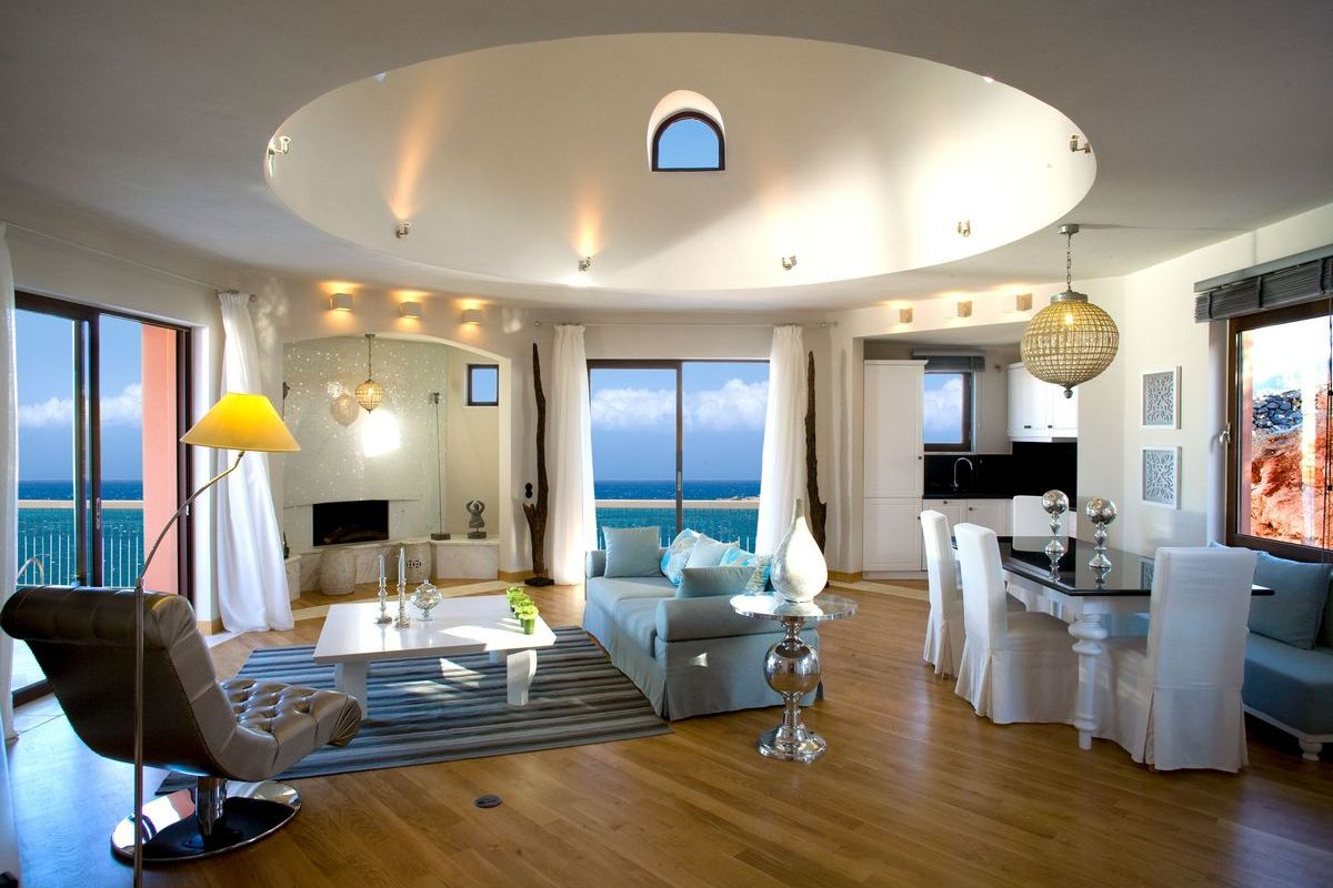 Domes Of Elounda – Luxury Villa Living Room