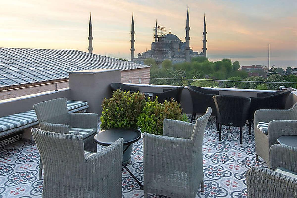 Ibrahim Pasha – Widok z tarasu na dachu