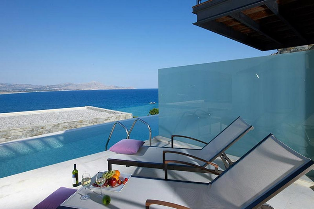 Lindos Blu – Pokój typu Double z basenem