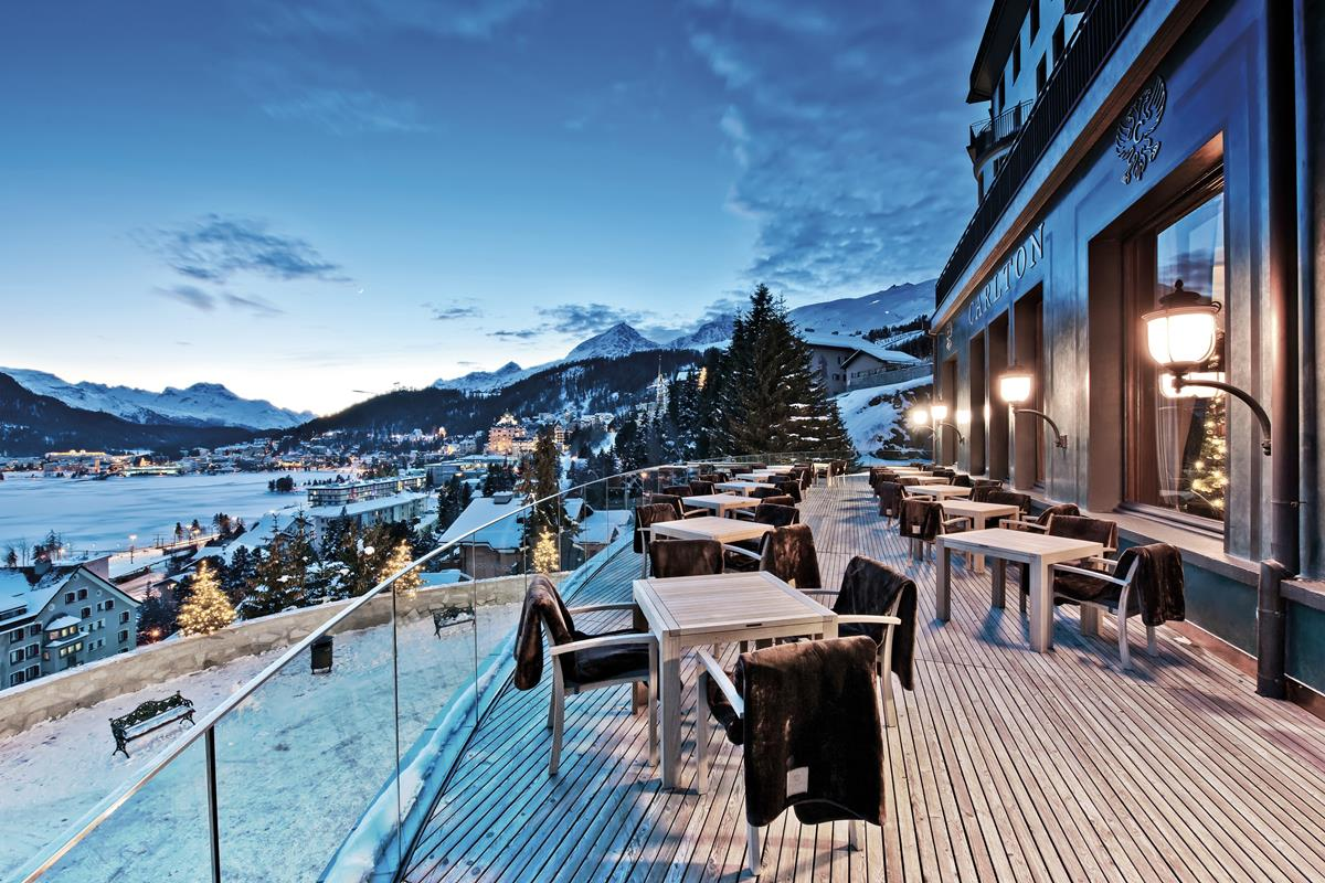 Carlton Hotel St. Moritz – Taras