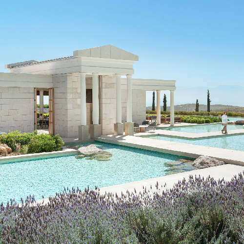 Amanzoe, Greece – Dining, Bar, Reflecting pool