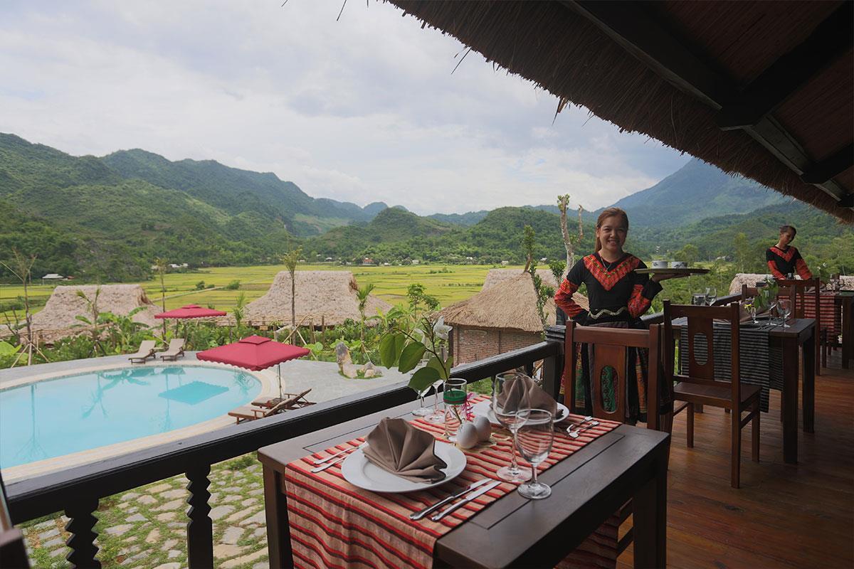 Mai Chau Ecolodge – Restauracja