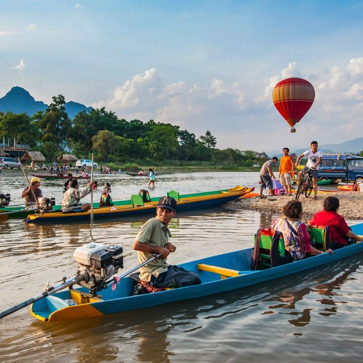 Aktywnie w Vang Vieng