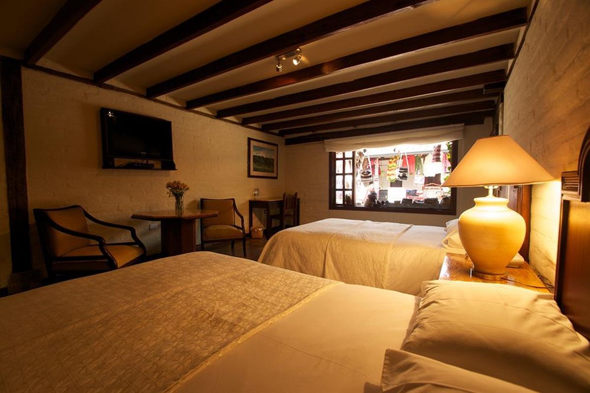 Hacienda Abraspungo – Pokój z dwoma łóżkami