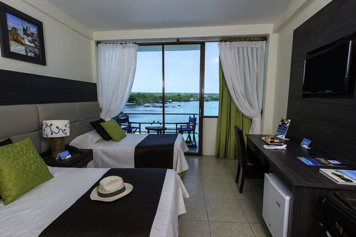 Hotel Solymar – Pokój dwuosobowy z dwoma łóżkami i widokiem na morze