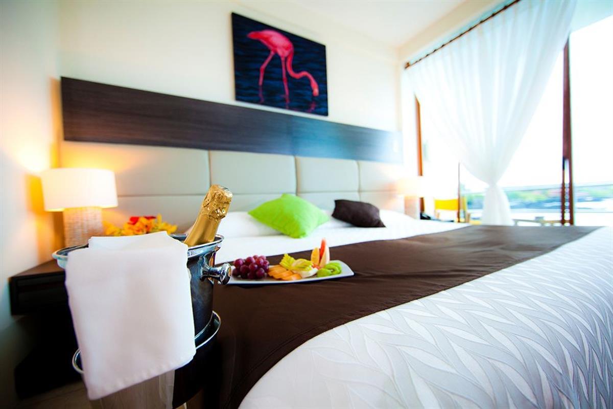 Hotel Solymar – Pokój dwuosobowy z jednym łóżkiem i widokiem na morze