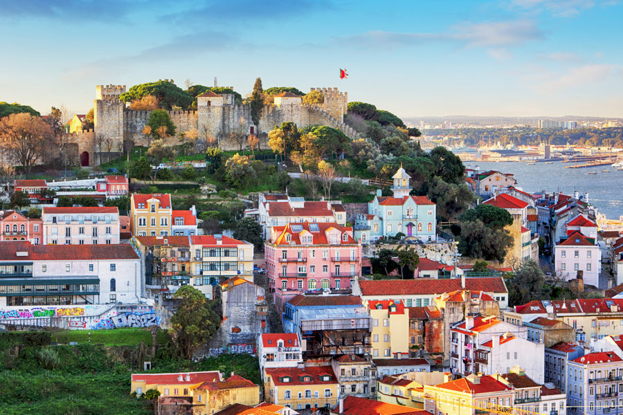 Lizbona - Zamek Świętego Jerzego