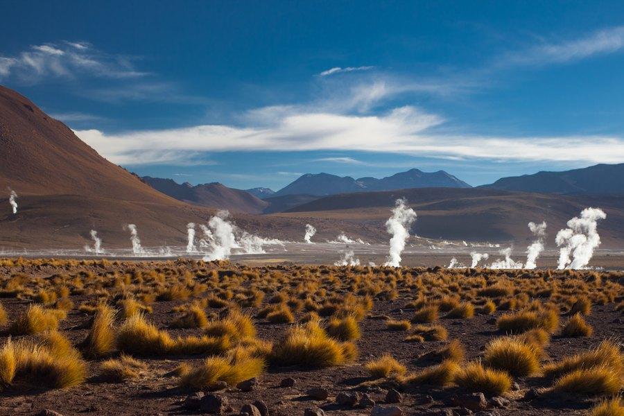 Gejzery na pustyni Atacama