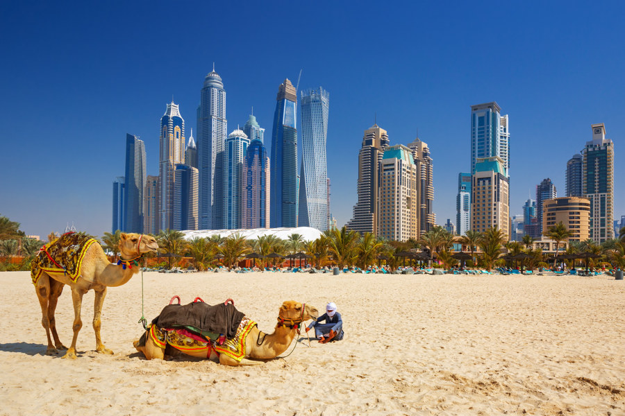 Zjednoczone Emiraty Arabskie - Dubaj - plaża Jumeirah