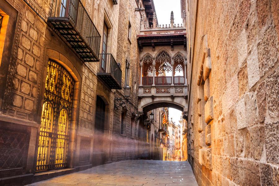 Uliczki Barcelony
